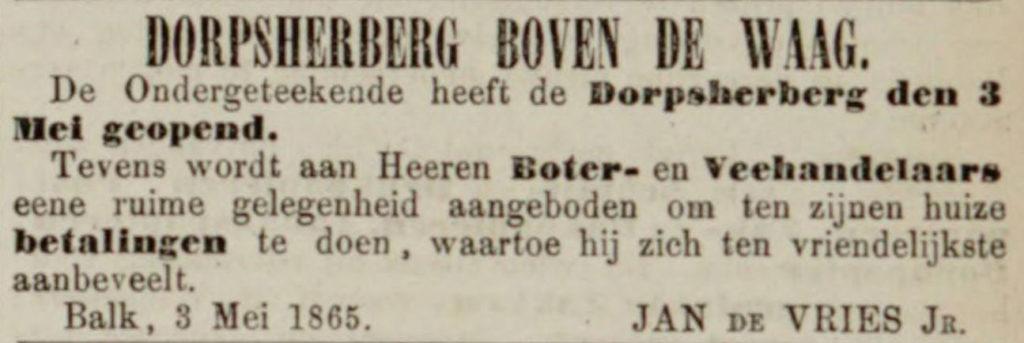 boterhandel Balk A 269 18650505 LC opening dorpsherberg